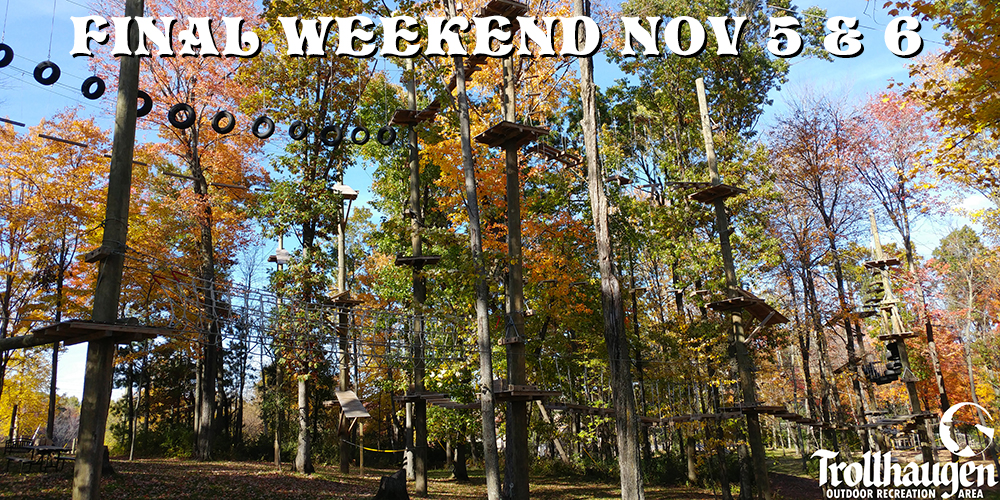 Troll Zip Line / Aerial Park Opens Memorial Weekend | Minnesota Wisconsin MN WI Adventure Recreation